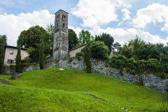 Bellagio miasto na Jeziornym Como, Włochy Lombardy region Włoska ulica, europejski arhitecture Obrazy Stock