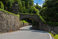 Bellagio miasto na Jeziornym Como, Włochy Lombardy region Włoski pejzaż miejski, europejski drogowy arhitecture Obrazy Royalty Free