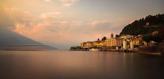 Bellagio miasto w como jeziorze zdjęcia stock