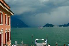 Bellagio mit dem Sturmnähern Lizenzfreie Stockfotos