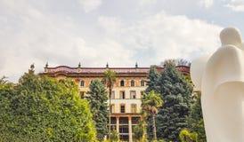 Bellagio no lago Como, Lombardy, Itália Fotos de Stock