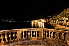 Bellagio nocą Obrazy Royalty Free