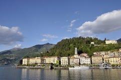 Bellagio op Meer Como Stock Foto