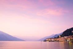 Bellagio på sjön Como i Italien royaltyfria bilder
