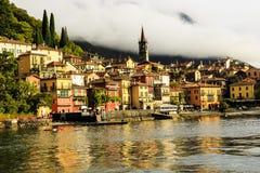 Bellagio på sjön Como Italien royaltyfri fotografi