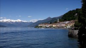 Bellagio på sjön Como, Lombardy stock video