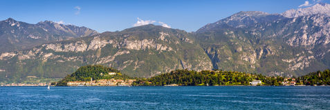 Bellagio peninsula seen from Mennagio across Lake Como Royalty Free Stock Photography