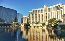 Bellagio resort and casino on sunny day. Las Vegas, NV, USA - October 19, 2018: Famous Bellagio resort and casino on sunny day stock photo