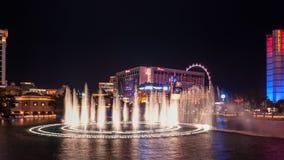 Bellagio ` s fontanny nocy przedstawienie Zdjęcia Royalty Free