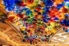 Bellagio ` s lobby sufitu szczegół Fotografia Royalty Free