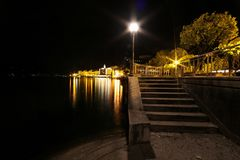 Bellagio, schodki przy nocą Zdjęcia Royalty Free