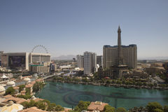 Bellagio sjö i Las Vegas Royaltyfria Foton