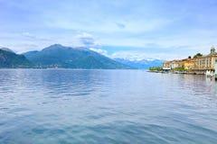 Bellagio stad, het district Italië, Europa van het Meer Como. Stock Foto's
