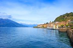 Bellagio-Stadt, Como See-Bezirkslandschaft. Italien, Europa. Lizenzfreies Stockfoto