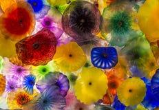 Bellagio szkła kwiaty Zdjęcia Royalty Free