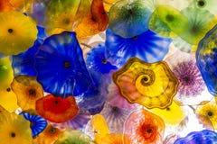 Bellagio szkła kwiaty Obrazy Royalty Free