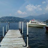 Bellagio  from Tremezzo Lake Como Italy. On the water at Bellagio Lake Como italy Lario Tremezzo Royalty Free Stock Photography