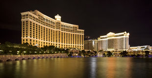 Bellagio und Caesar's Palace Stockfoto