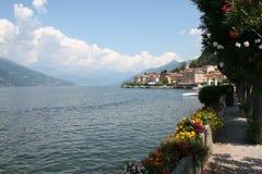 Bellagio und See Como Stockbild