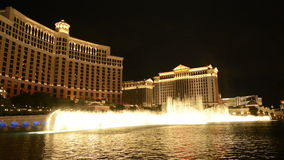 Bellagio Water Show - Las Vegas stock footage