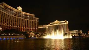 Bellagio Water Show - Las Vegas - Time Lapse stock video