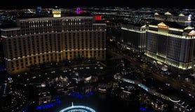 Bellagio y Caesar's Palace, Las Vegas, nanovoltio Foto de archivo