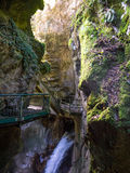 Bellano waterfall gorge Stock Image