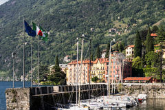 Bellano y el lago Como Imágenes de archivo libres de regalías