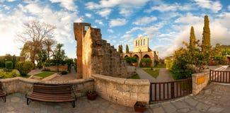 Bellapais修道院,凯里尼亚区,塞浦路斯 库存照片