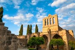 Bellapais修道院 凯里尼亚区,塞浦路斯 免版税图库摄影
