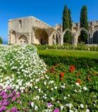 Bellapais的,北塞浦路斯5 13世纪哥特式修道院 库存照片