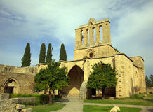 Bellapais Abbey. Ancient Bellapais Abbey in Cyprus with orange trees Stock Images