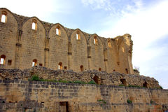 Bellapais Abbey. Gothic arches of Bellapais Abbey in Kyrenia, Cyprus Royalty Free Stock Image