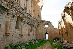 Bellapais abbey Stock Photography