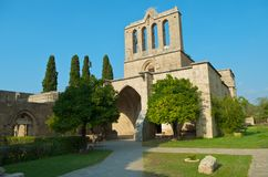 Bellapais Abbey. View at the entrance to the Bellapais Abbey. North Cyprus Stock Photos