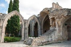 Bellapais Abbey Arkivfoton
