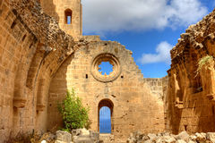 Bellapais Abbey in Cyprus. Historic Bellapais Abbey in Kyrenia, Northern Cyprus. Original construction was built between 1198-1205, it is the most beautiful Royalty Free Stock Photography