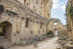 Bellapais Abbey near Kyrenia royalty free stock photo