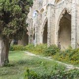 Bellapais Abbey near Kyrenia stock images