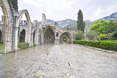 Bellapais Abbey in Northern Cyprus - Bellapais monastery stock photos