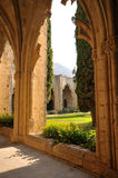 修道院bellapais kyrenia 图库摄影