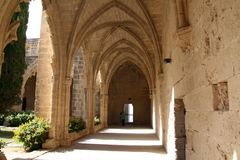Bellapais monastery, Northern Cyprus. Ruins of Bellapais monastery, Northern Cyprus royalty free stock photography