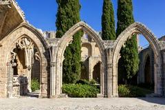 Bellapaisabdij dichtbij Kyrenia royalty-vrije stock afbeeldingen