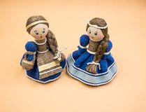 Bellarusian-Puppen, Spielwaren lizenzfreies stockfoto