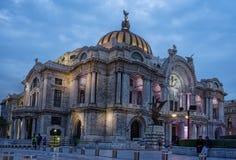 Bellas artes τη νύχτα, Πόλη του Μεξικού, Μεξικό Στοκ φωτογραφία με δικαίωμα ελεύθερης χρήσης