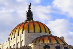 Bellas artes cupolas. Cupolas of the palacio de las bellas artes in mexico city Stock Photography
