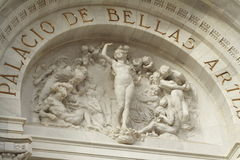 Bellas artes facade. Detail of the facade of the bellas artes palace in mexico city, mexico Stock Photography