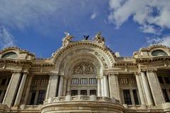 Bellas Artes pałac przy Meksyk fotografia royalty free