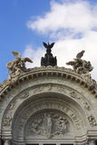 Bellas artes palace. Main facade of the bellas artes palace in mexico city Royalty Free Stock Image