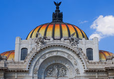 Bellas Artes Palace of fine art in Mexico City. Royalty Free Stock Image
